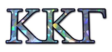 Kappa Kappa Gamma Reflective Decal