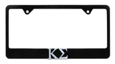 Kappa Sigma Black License Plate Frame