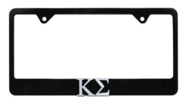 Kappa Sigma Black License Plate Frame