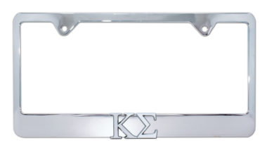 Kappa Sigma Chrome License Plate Frame