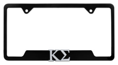 Kappa Sigma Fraternity Black Open License Plate Frame