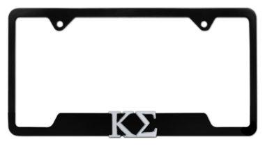 Kappa Sigma Fraternity Black Open License Plate Frame