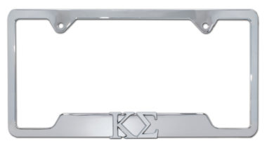 Kappa Sigma Fraternity Chrome Open License Plate Frame