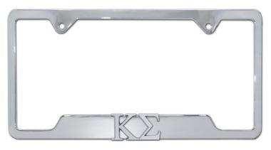 Kappa Sigma Fraternity Chrome Open License Plate Frame