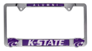 Kansas State 3D Alumni License Plate Frame