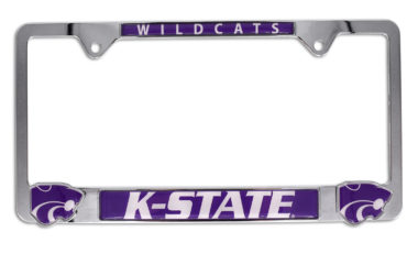 Kansas State 3D Wildcats License Plate Frame