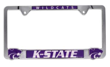 Kansas State 3D Wildcats License Plate Frame