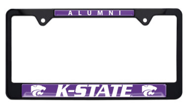 Kansas State University Alumni Black License Plate Frame