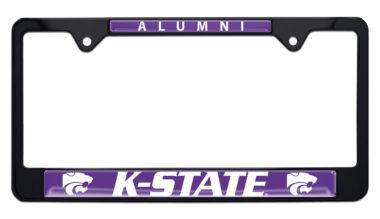 Kansas State University Alumni Black License Plate Frame