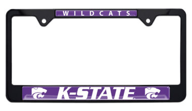 Kansas State University Wildcats Black License Plate Frame