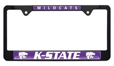 Kansas State University Wildcats Black License Plate Frame