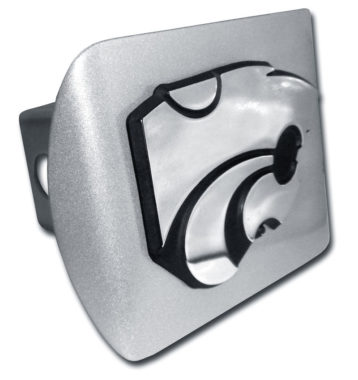 Kansas State Emblem on Brushed Hitch Cover image