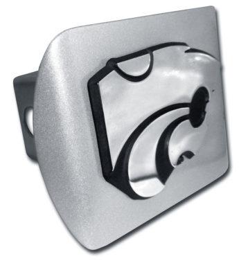 Kansas State Emblem on Brushed Hitch Cover