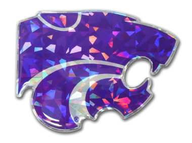 Kansas State Purple 3D Reflective Decal image