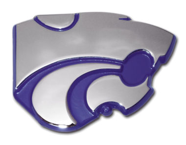 Kansas State Purple Chrome Emblem