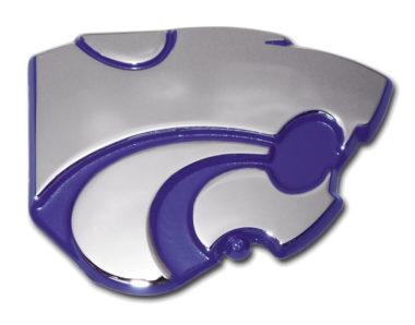 Kansas State Purple Chrome Emblem
