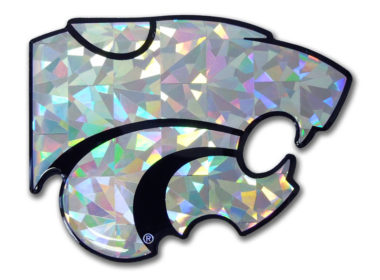 Kansas State Silver 3D Reflective Decal image