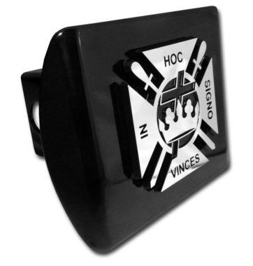 Knights Templar Emblem on Black Hitch Cover