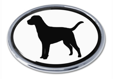 Labrador White Chrome Emblem