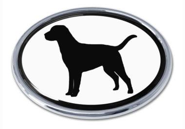 Labrador White Chrome Emblem