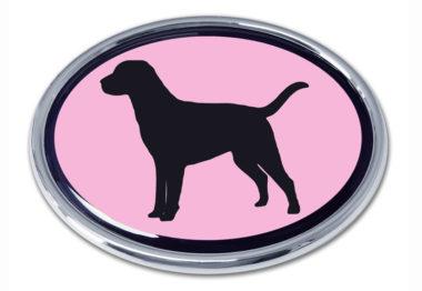 Labrador Pink Chrome Emblem