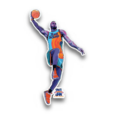 Lebron James Dunking Decal