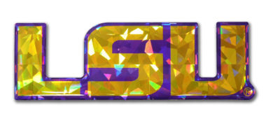 LSU Yellow 3D Reflective Domed Decal image
