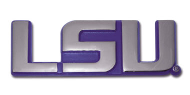 LSU Purple Chrome Emblem
