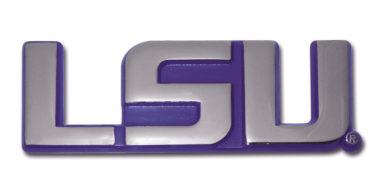LSU Purple Chrome Emblem