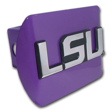 LSU Emblem on Purple Hitch Cover