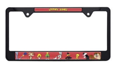 Looney Tunes Black License Plate Frame