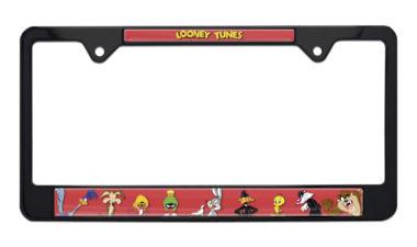 Looney Tunes Black License Plate Frame image