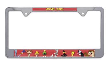 Daffy Duck Chrome License Plate Frame