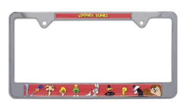 Looney Tunes Chrome License Plate Frame image