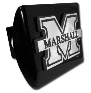 Marshall University Emblem on Black Hitch Cover