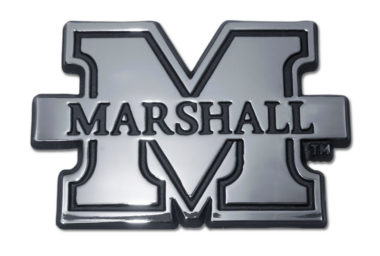 Marshall University Chrome Emblem