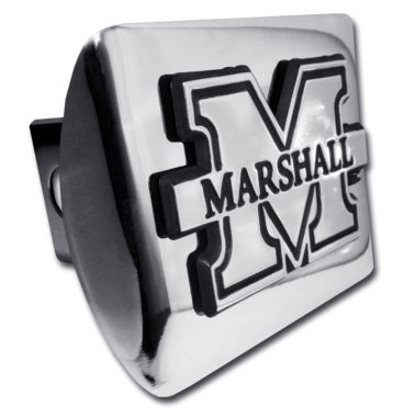 Marshall University Emblem on Chrome Hitch Cover