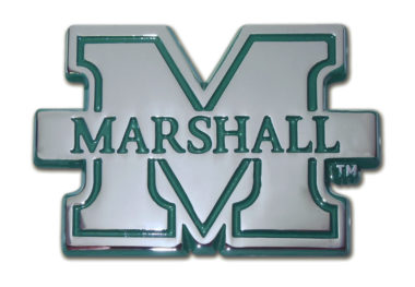 Marshall University Green Chrome Emblem