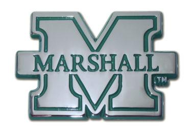 Marshall University Green Chrome Emblem
