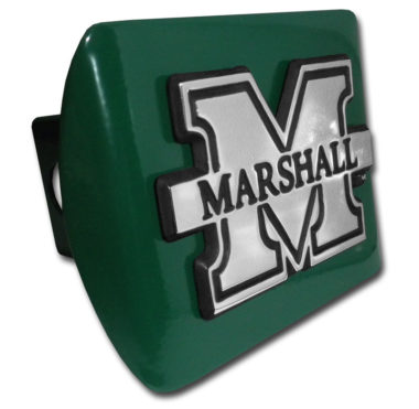 Marshall University Emblem on Green Hitch Cover