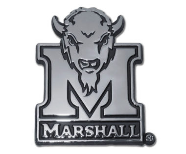 Marshall University Buffalo Chrome Emblem
