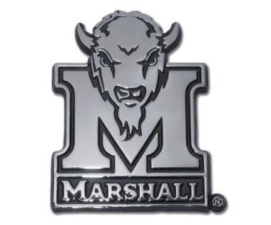 Marshall University Buffalo Chrome Emblem