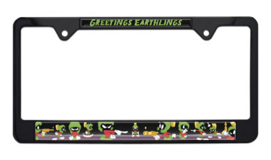 Marvin The Martian Black License Plate Frame