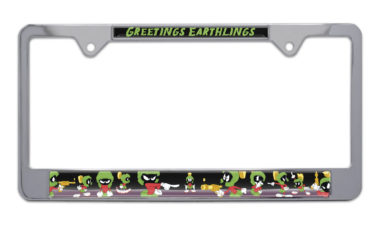 Marvin The Martian Chrome License Plate Frame