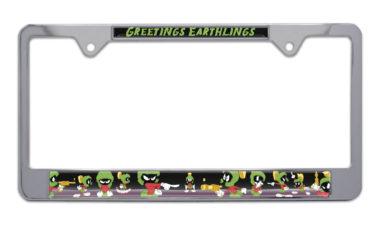 Marvin The Martian Chrome License Plate Frame