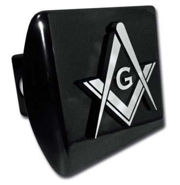 Masonic Black Hitch Cover