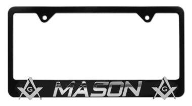 Mason 3D Black License Plate Frame