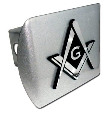 Masonic Emblem on Brushed Hitch Cover image