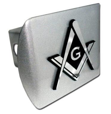 Masonic Brushed Hitch Cover image