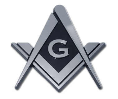 Masonic Chrome Emblem